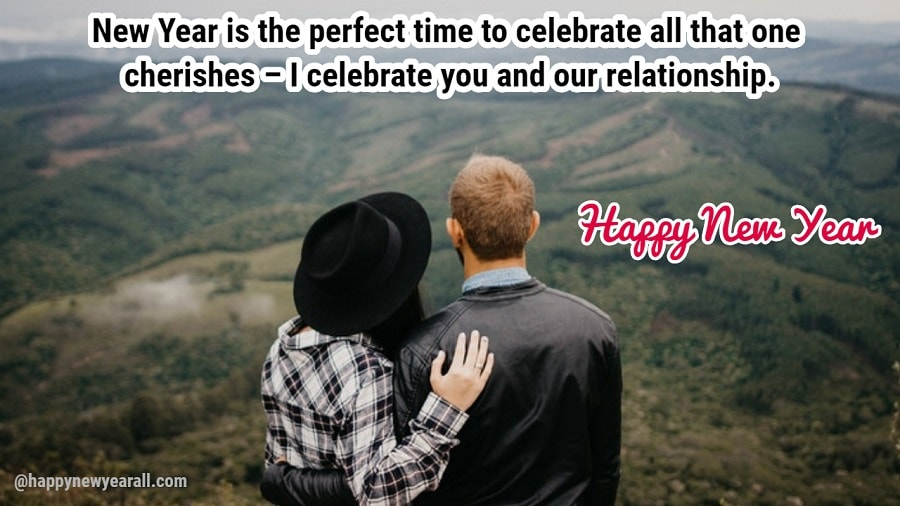 romantic love new year messages