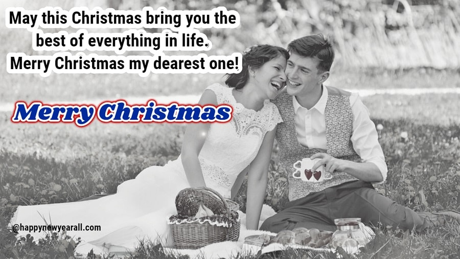 Romantic Christmas greetings for someone Special