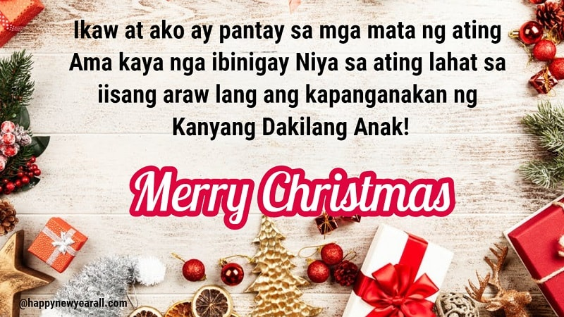 Christmas Tagalog Greetings