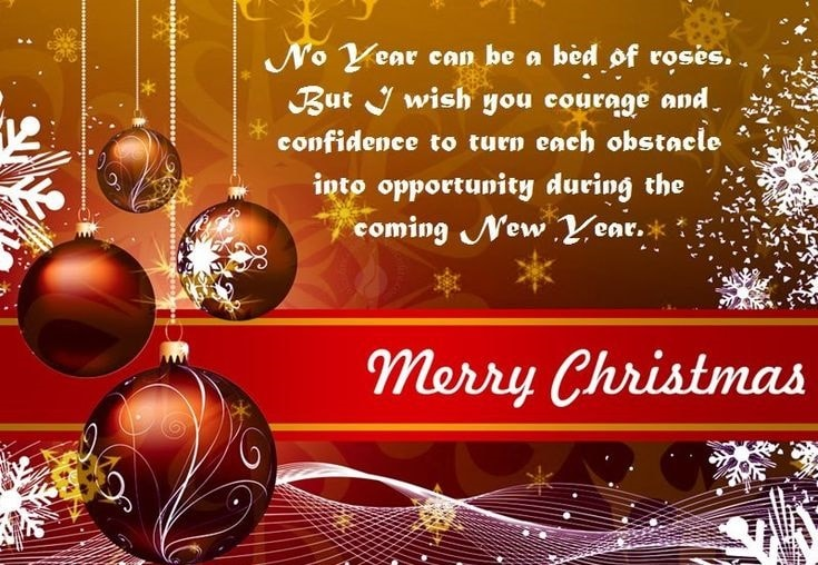 Merry christmas and have a happy new year