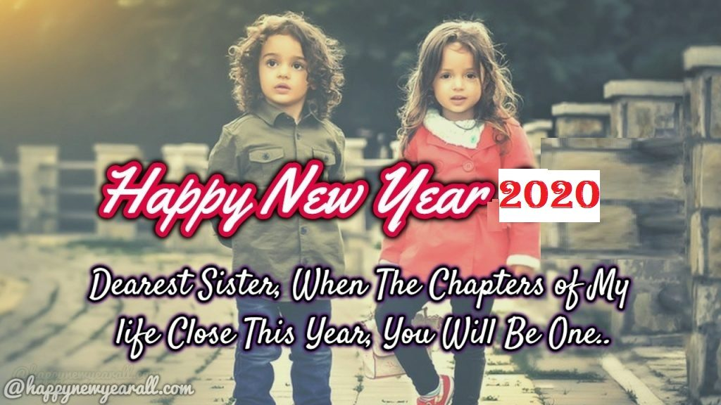 New year wishes to sister