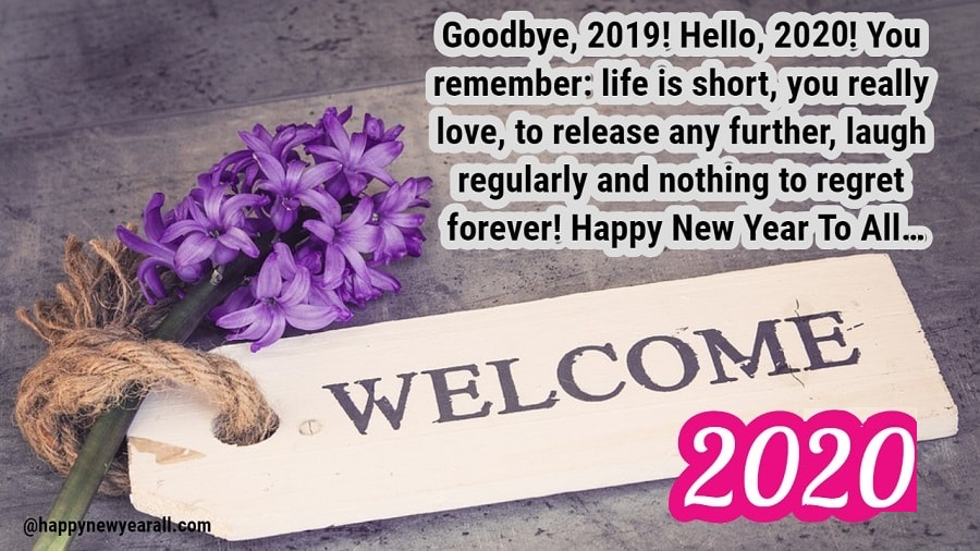 Goodbye 2019 Welcome 2020