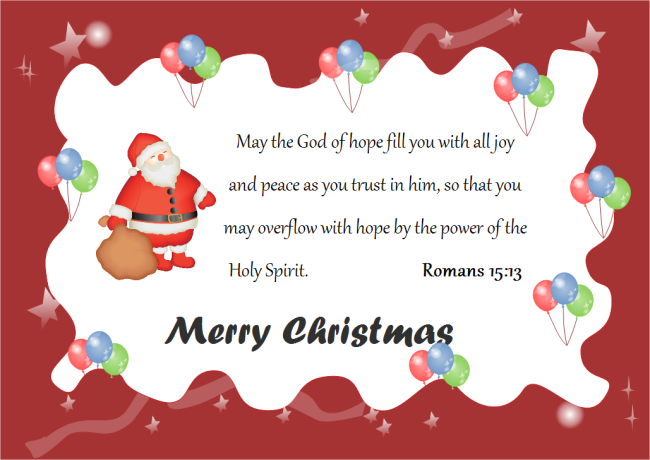 Merry Christmas Quotes Card