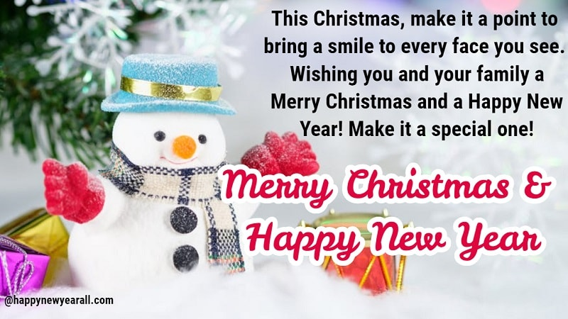merry cristmas and happy new year messages