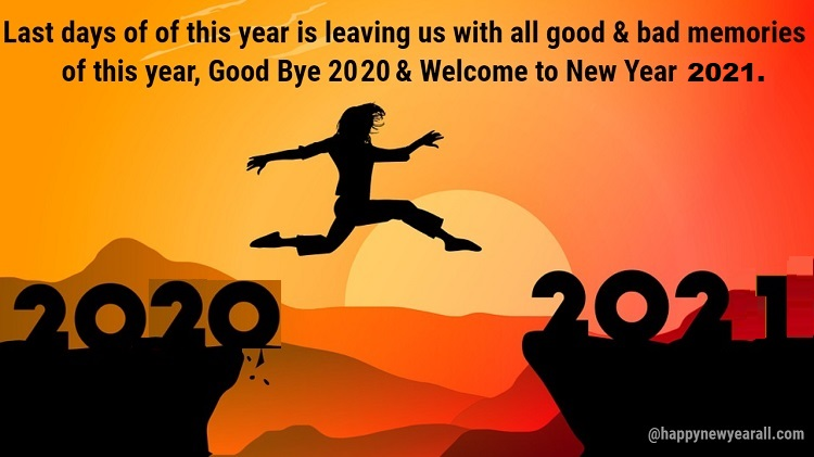 Good Bye 2020 Welcome 2021 Status