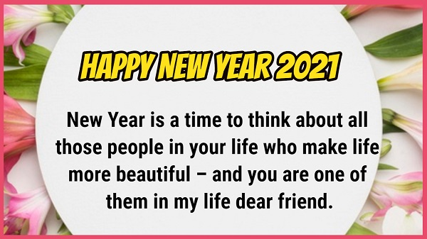 Wishes for new year for friends