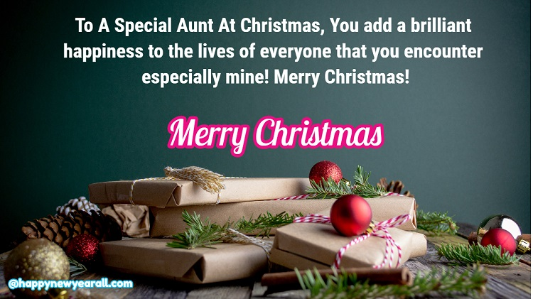 Christmas Wishes for Aunt