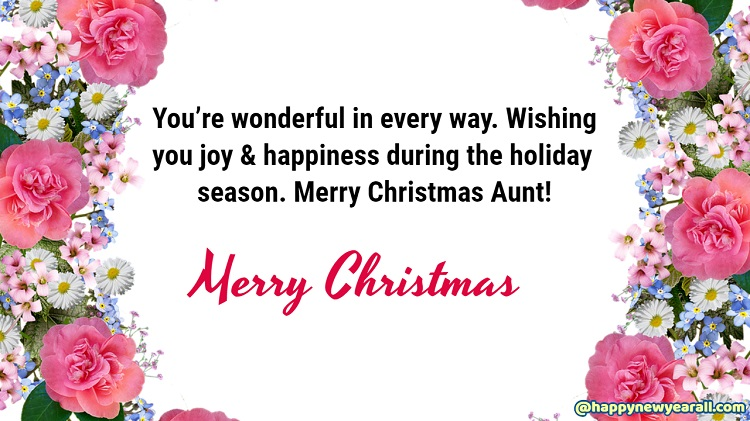 Merry Christmas wishes for Aunt