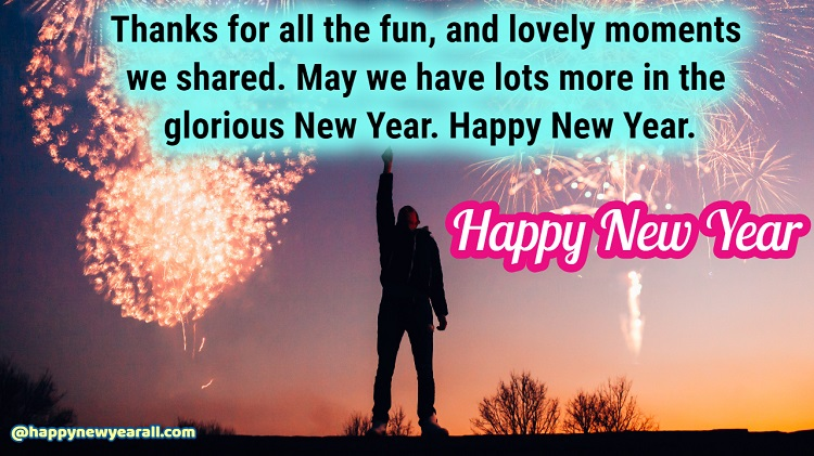 New Year Thank you reply messages