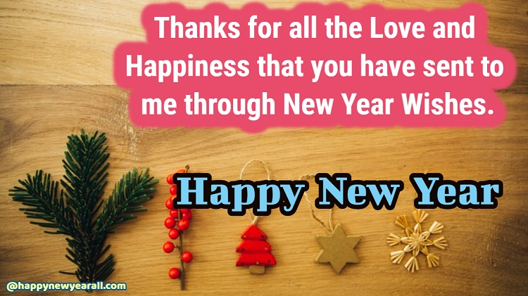 Thank you reply wihes for new year